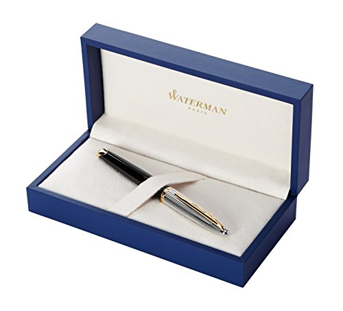 Waterman Carene Deluxe Black Lacquer / Silver Medium Point Fountain Pen (S0699940)