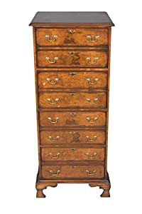 English Antique Style Vertical Four-Drawer Walnut File Cabinet