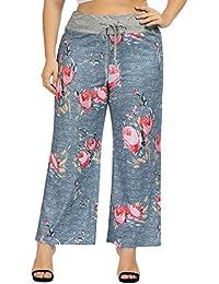 d49c2e7df Pajama Bottoms for Women Plus Size Cotton Floral Print Pant