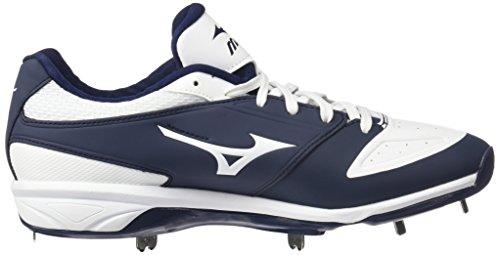 Mizuno Männer dominierender IC Baseball-Schuh Navy Weiß
