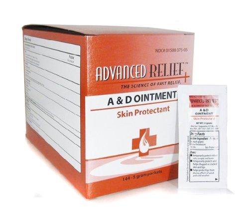A+D Original Ointment BOX of 144pcs FOIL PACKS Tattoo Medical Supply - Tattoo Ointment Packs
