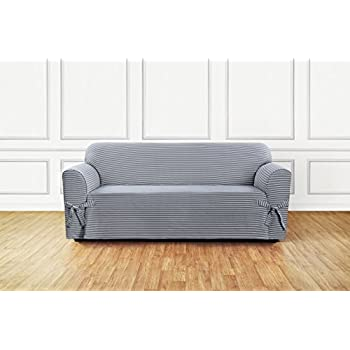 Amazon Com Surefit Scroll Sofa 1 Piece Slipcover Brown Kitchen