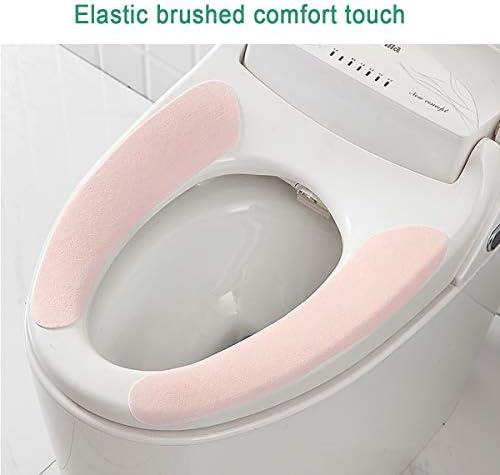 AMOYER 1pc Toilettensitzabdeckung Warme Weiche Deckel Pad Closes Schutz Mat Bad-Accessoires Einfache Installation Und Reinigung Bequeme Toilettensitzabdeckung Pads Lila