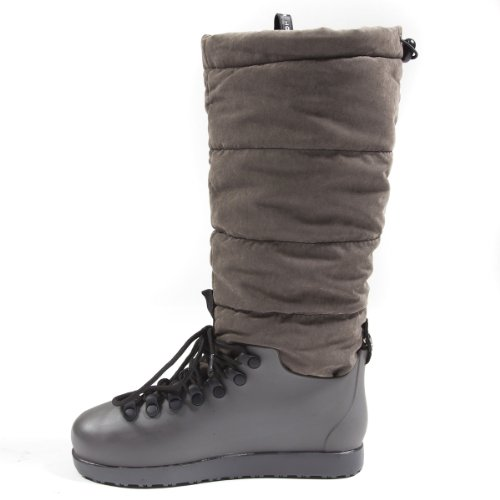 Slouchy Up Flat Round Lace Toe Hot High Cutie Boot Shoes Waterproof Womens Closed Gray Knee qntY8g