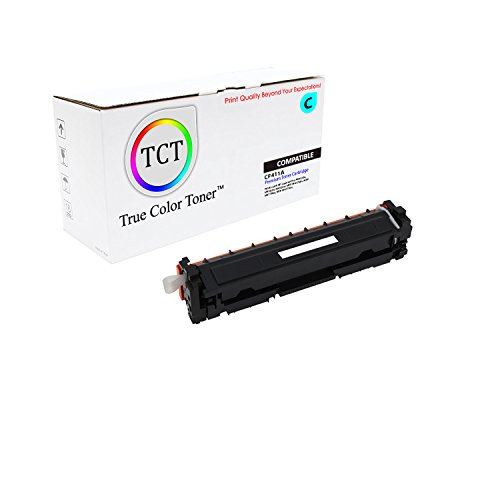 TCT Premium Compatible CF411A Cyan Toner Cartridge for the HP 410A series - 2,300 yield- works with the HP LaserJet Pro M452dn, M452dw, M452nw, MFP M477fdn, MFP M477fdw, MFP (Laserjet 2300 Series Yield)