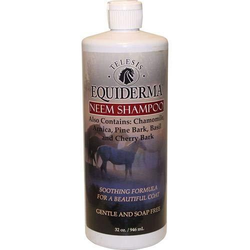 Telesis Animal Health Equiderma Sulfate Free Neem & Arnica Shampoo, 32-Ounces, For Horses