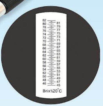 Grand índice compensación automática de temperatura Brix/Cerveza refractómetro rhb-82atc Juego de + aceite de calibración/incluye - -Sugar refractómetro, ...