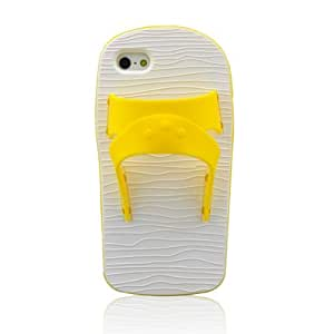 HJX Yellow Slipper Of Taiwan Silicone Back Protective Case Cover Skins for Apple iphone 5 5G