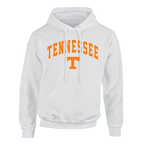 Tennessee Volunteers Hooded Sweatshirt Arch White - L - White Orange (Hoodie Mens Tennessee)