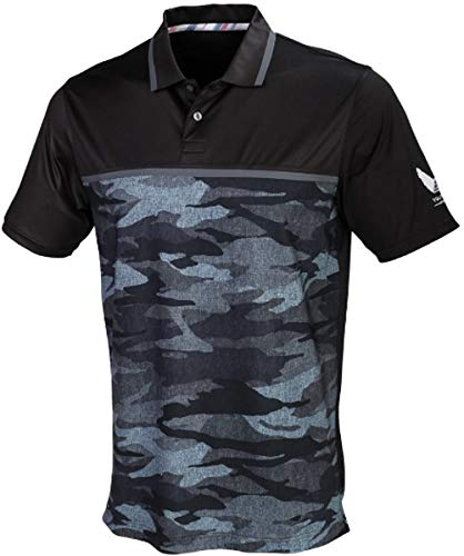 PUMA Golf Men's Volition Color Block Polo Black/Camo X-Large
