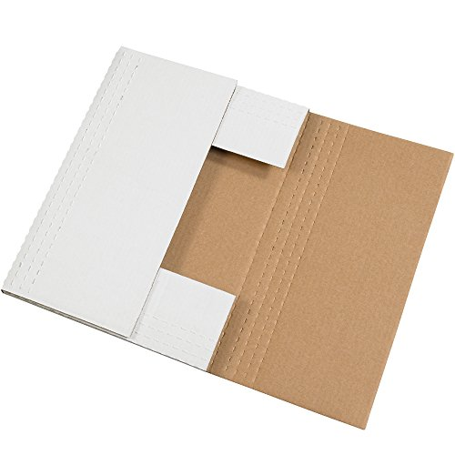 - Boxes Fast BFM4BK Corrugated Cardboard Easy-Fold Mailers, 17 1/8 x 14 1/8 x 2 Inches, Fold Over Mailers, Adjustable Die-Cut Shipping Boxes, Multi-Depth, Large White Mailing Boxes (Pack of 50)