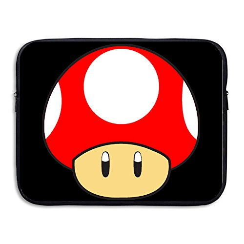 Custom Cute Super Mushroom Shock-Resistant Tablet Protective Cover Bag 15 Inch