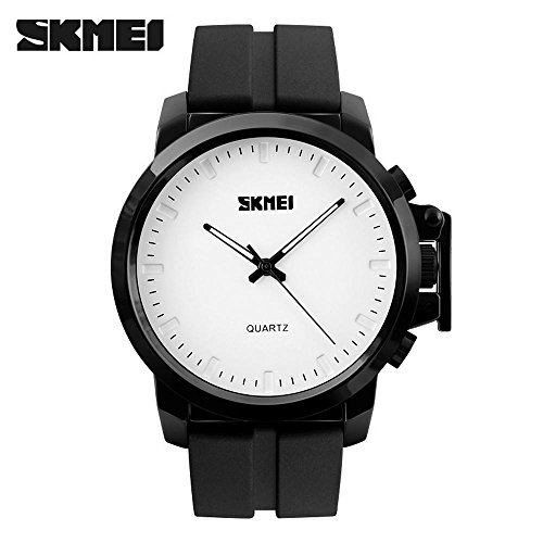 SKMEI Analog Watches Japanese Quartz Movement 31M Waterproof Rubber Strap Dress Watch Casual Wrist (Single 31 Band Graphic)