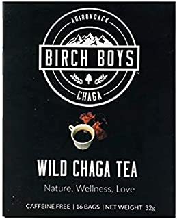 product image for Birch Boys   Wild Crafted Organic Chaga Mushroom Tea Bags- Best Antioxidant Morning Tea With 16 Bag Count…