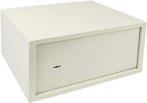 PrimeMatik - Caja Fuerte de Seguridad de Acero y con Llaves 44 x 38 x 23 cm Beige: Amazon.es: Electrónica