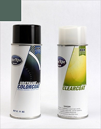 ColorRite Aerosol Automotive Touch-up Paint for Honda Accord - Eucalyptus Green Pearl Clearcoat G-83P - Color+Clearcoat Package