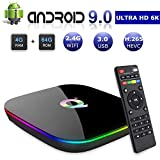 Android 9.0 Smart TV Box, 4GB RAM 32GB ROM Linkplus Q Plus H6 Quad-core cortex-A53 Frequency 2G Mali-T720MP2 WiFi 2.4GHz Support 6K H.265 HDMI 2.0 Output Ethernet RJ-45 with USB 3.0