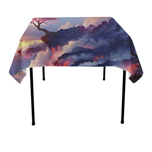 GOAEACH Stain Resistant Dust-Proof Rectangular Square Table Cloths