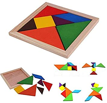 Oytra Wooden Puzzle Tangram for Developing Shape Recognition Abilities of Kids