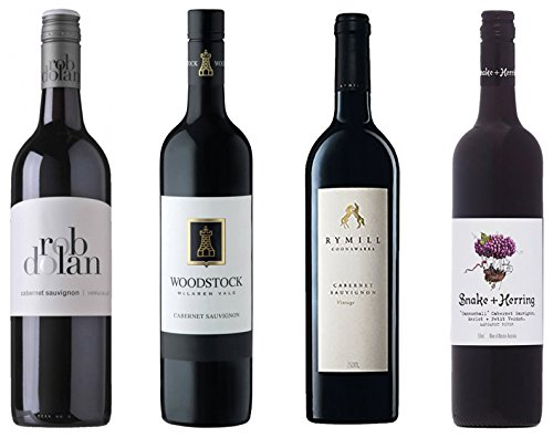 Top Australian Red Wine Mixed Pack, Cabernets Rated 94+, 4 x 750 mL Bottles