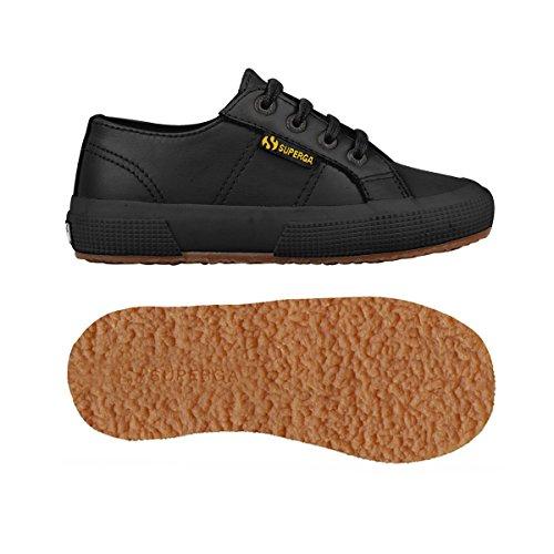 Superga 2750 - Microfiberpuj - Zapatillas de sintético para niño negro - Black (Full Black)