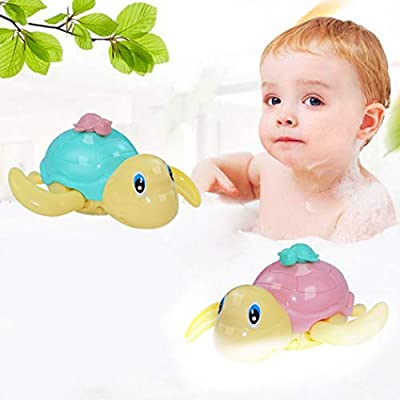 Coxeer Bath Toys, 3PCS Kids Wind up Toy Creative Turtle Shape Clockwork Toy Bath Toy Water Toy: Home & Kitchen