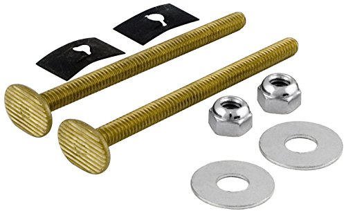 6 Pack Lincoln 100851 3-1/2'' Brass Toilet Bolts by Lincoln Electric