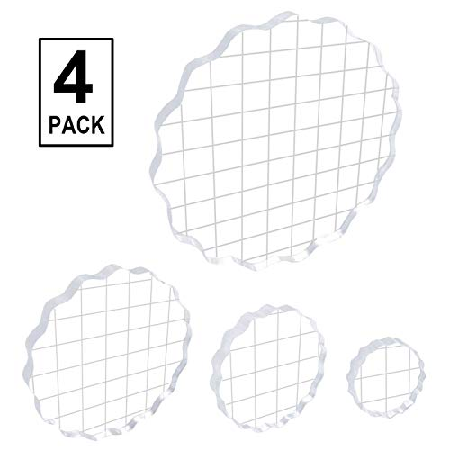 4 Pieces Acrylic Stamp Block Clear Stamping Tools Set