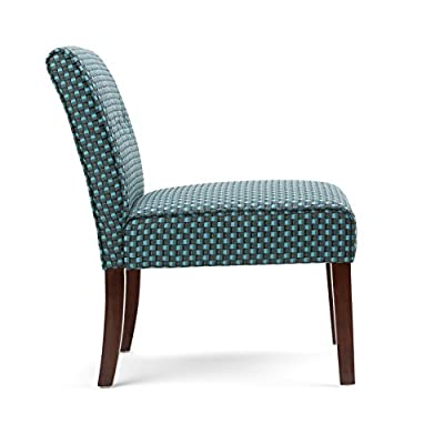 Simpli Home Sallybrook Accent Chair in Green Patterned Fabric -  - living-room-furniture, living-room, accent-chairs - 41D52N1ENLL. SS400  -