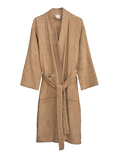 TowelSelections Women's Robe Turkish Cotton Terry Kimono Bathrobe X-Large/XX-Large Nougat]()