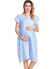 100% Cotton Labor and Delivery Gown, Hospital Gown for Newborn Picture, Nursing Clothes