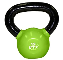 Troy Barbell VTX Vinyl Coated Kettlebell (12-Pounds, Green)