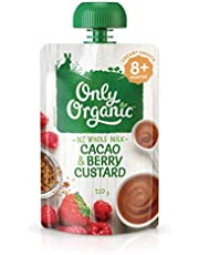 Only Organic Cacao and Berry Custard 8+ Months - 120g