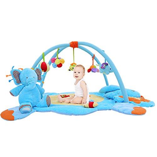 [Missley Elephant Crawling Mat Baby Activity Play Gym Mats Deluxe Play Gym] (Deluxe Baby Activity Gym)