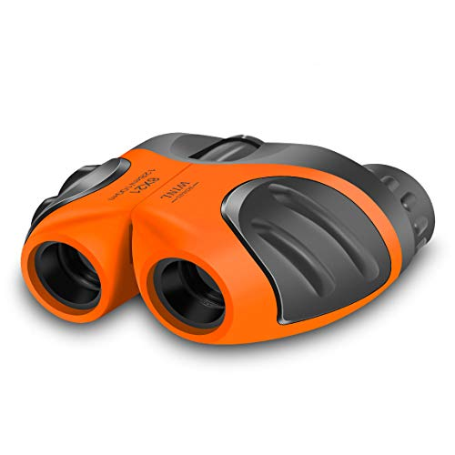 JRD&BS WINL Best Toys for 4-9 Year Old Boys,Toys Binoculars for Kids,8x21 Compact Telescope Boys Gifts 10 Years Old to Wildife and Theater,Gifts for Girls 8 Year Old(Orange)