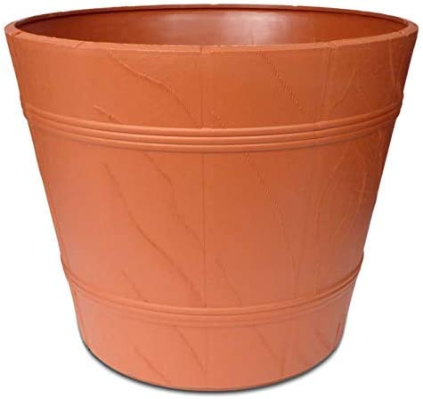 YOUniversal Products Large Round Terracotta Plastic Flower Pot