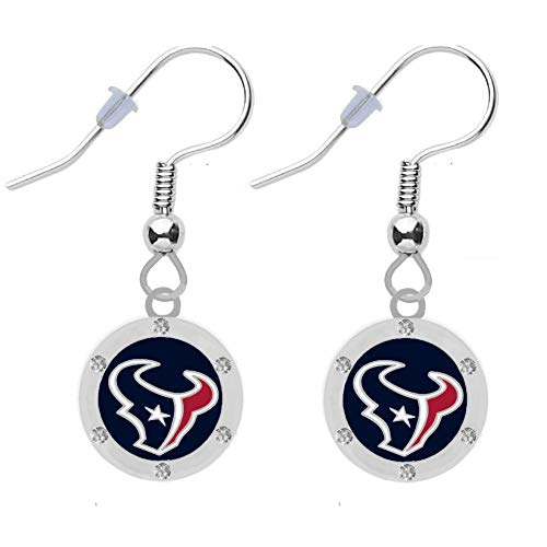 - Final Touch Gifts Houston Texans Crystal Earrings Pierced