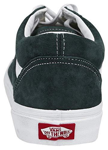 Adulto Skool Vans Oscuro Old Verde Unisex Zapatillas U qXwxOw81