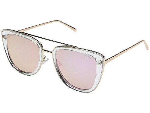 Quay Australia FRENCH KISS Women's Sunglasses Oversized All Occasions - Clear/Rose
