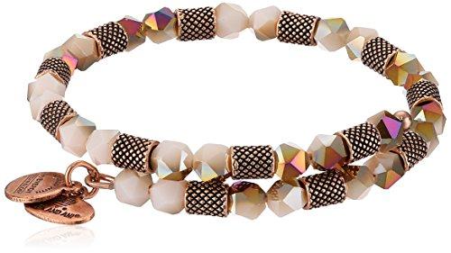 Alex and Ani Womens Ruler Wrap, Birch Bangle Bracelet, Rafaelian Rose Gold, Expandable