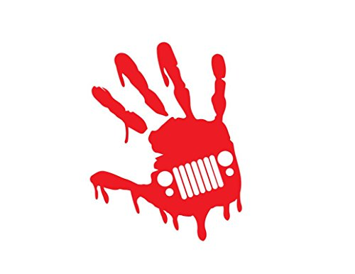 zombie hand decal - 7