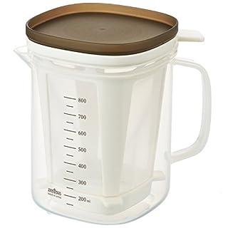 Dashi food extract bottle, microwave food soup extract dispenser: kelp, bonito flake seasoing strainer jug
