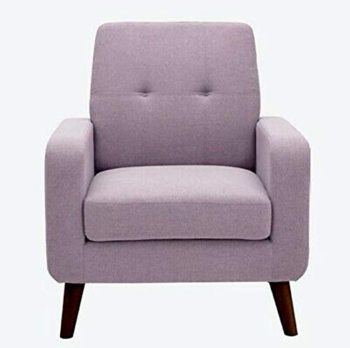 Simple Happyness Single Accent Sofa Solid Birch Wood Linen Fabric Arm Chair Living Bedroom Home Décor Hotel Dorm Lobby Restaurant Lounge Fitness Club Modern Sleek Design Plum Purple Set of ()