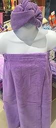 Spa Wrap Towel Bath Wrap One Size Adjustable Lavender