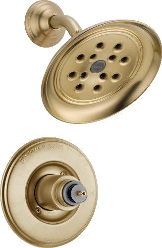 Victorian Champagne Bronze Monitor - Delta Faucet T14255-CZH2OLHP 14 Series Less Handle Victorian Monitor Shower Trim, Champagne Bronze