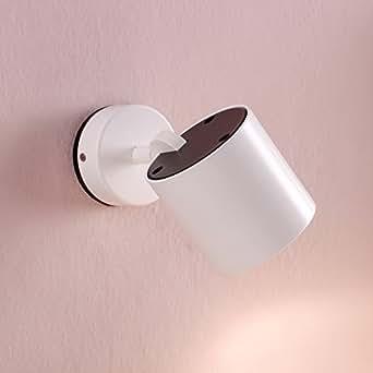 Milán - Foco orientable en cromo y negro, lámpara gu10 75w incluida