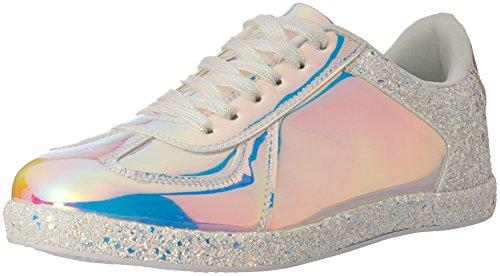 Qupid Vrouwen Tennisschoen Witte Hologram