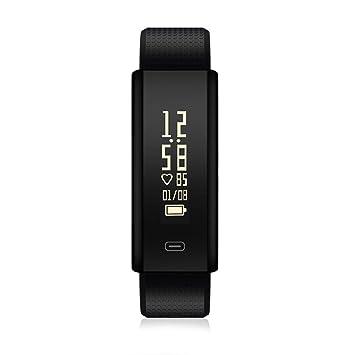Roawon Pulsera Actividad,Rastreador de Ejercicios con Monitor de Ritmo cardíaco, Reloj Inteligente con Seguimiento de Actividad a Prueba de Agua IP67 Reloj ...