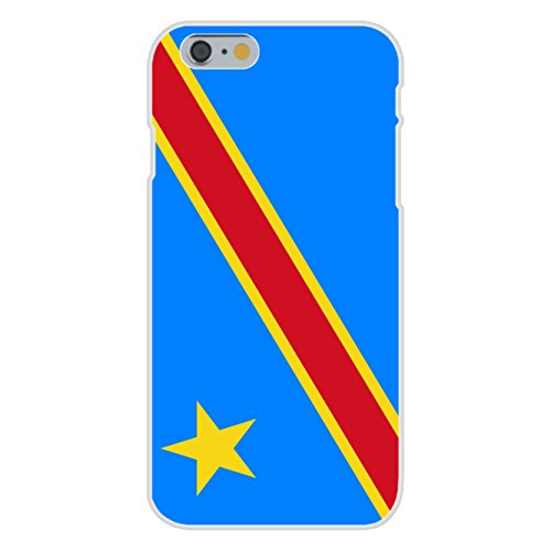 Apple iPhone 6+ (Plus) Custom Case White Plastic Snap On - Democratic Republic of the Congo - World Country National Flags (Flag Republic Country)