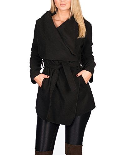 Size One Trenchcoat Collection Court Noir Kendindza Femme Long Manteaux HqwCnx7zg